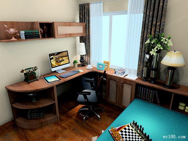 8平混搭风格书房布局紧凑 榻榻米设计实用吸睛_维意定制家具商城