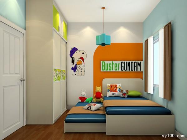 子母儿童房效果图 7�O史努比粉丝最爱_维意定制家具商城