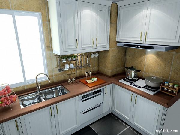 小户型厨房效果图 4�O做饭也是一种享受_维意定制家具商城
