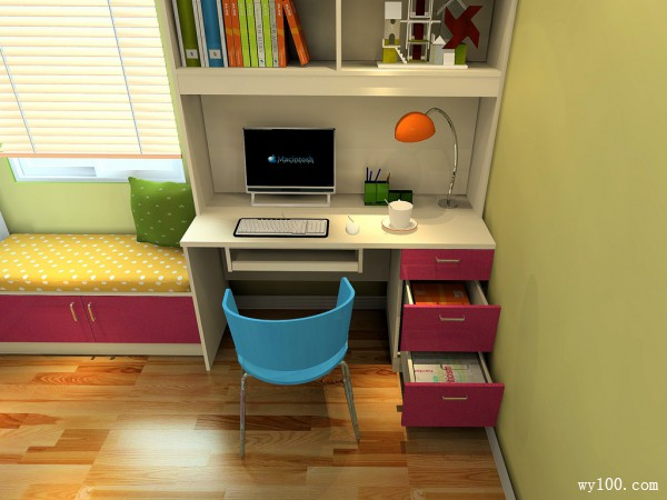 儿童房设计效果图 14�O缔造实用空间_维意定制家具商城