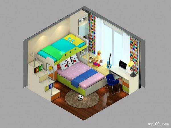 榻榻米飘窗儿童房设计_维意定制家具商城