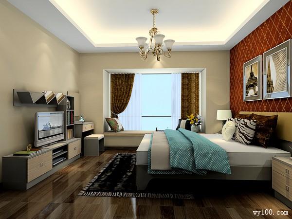 典雅双人卧室 19�O经济美观两手抓_维意定制家具商城