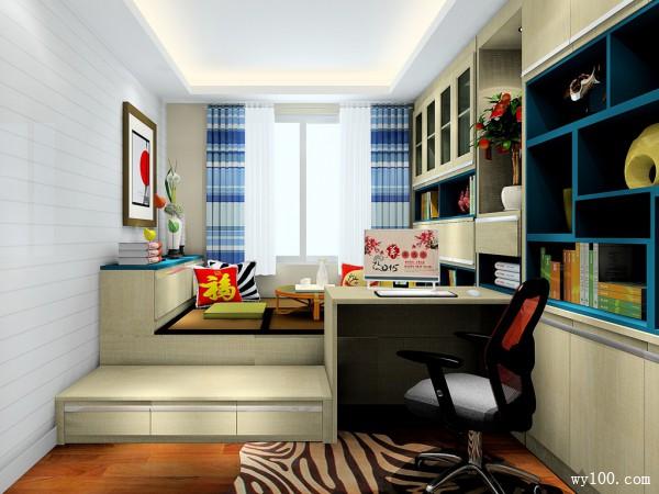 榻榻米书房设计 9平给你宅的理由_维意定制家具商城