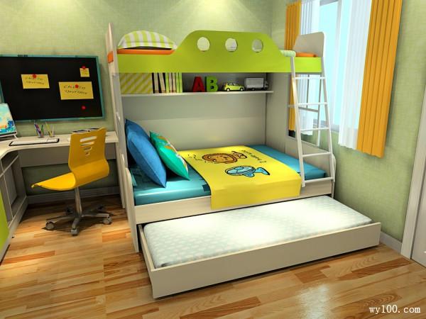 清新简约儿童房 13�O集万千宠爱于一身_维意定制家具商城
