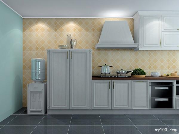 开放式厨房效果图 24�O留出动线走动自如_维意定制家具商城