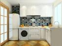 L型时尚厨房效果图 3�O轻松解决小户型问题_维意定制家具商城