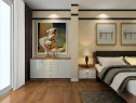 精致大气卧室效果图 一招解决28�O凹位卧室_维意定制家具商城