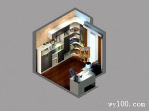现代收纳书房 经典黑白风格_维意定制家具商城