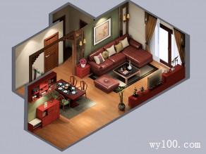 中国风客餐厅效果图 51�O家居中的新古典情怀_维意定制家具商城