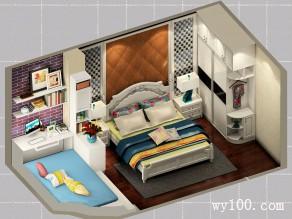 欧式田园卧房 18�O一房多用休息与办公两不误_维意定制家具商城