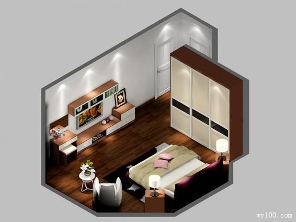 欧式卧室效果图 14平享受优雅空间_维意定制家具商城