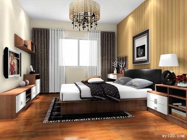 欧式英伦风格卧房 20�O高贵典雅_维意定制家具商城