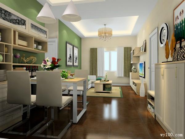 原木客餐厅效果图 18�O小空间大利用_维意定制家具商城