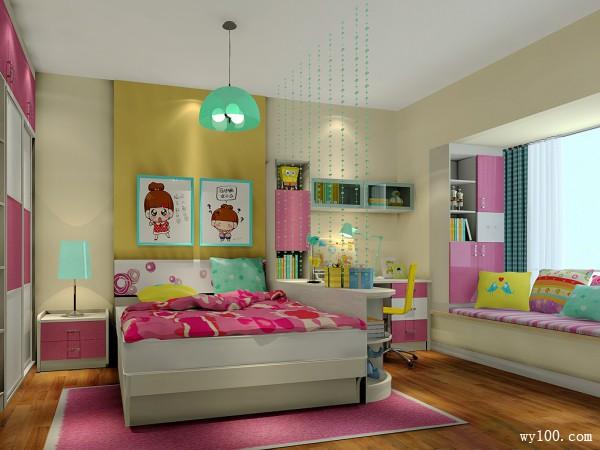 粉红儿童房效果图 12�O孩子是妈妈的宝_维意定制家具商城