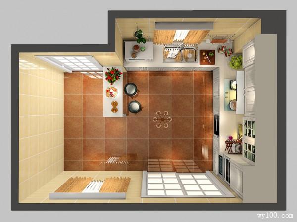 吧台厨房效果图 13�O明亮通透清新_维意定制家具商城
