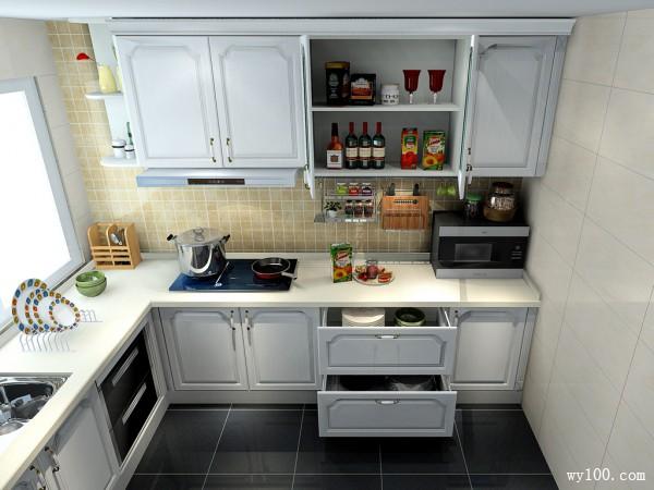 简约厨房设计 6�O打造理想厨房_维意定制家具商城