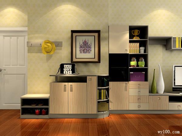 收纳与装饰并存的客餐厅_维意定制家具商城