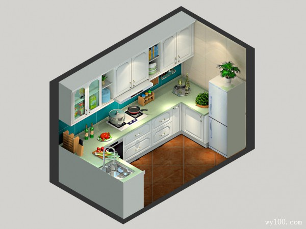 民以食为天 4�O干净整洁好厨房_维意定制家具商城