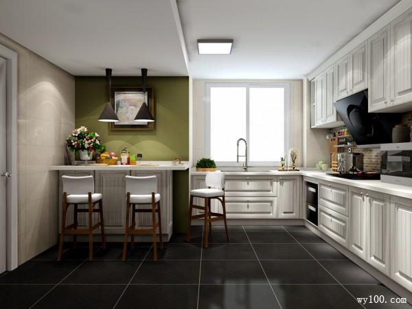 古典欧式厨房 12�O餐厨不分家_维意定制家具商城