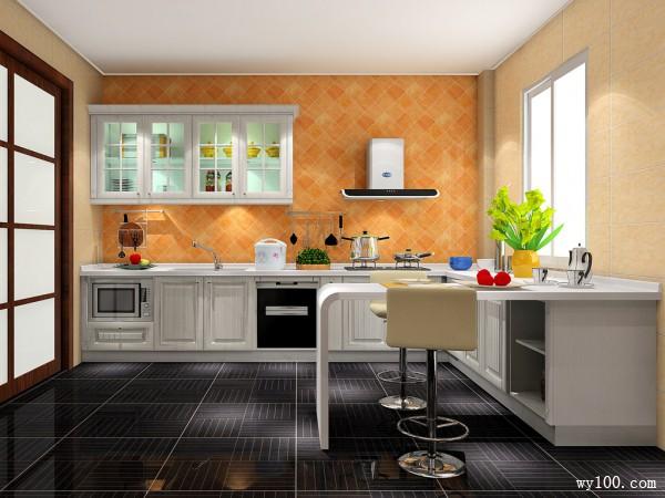 厨房装修效果图 22�O假日小资慢调_维意定制家具商城