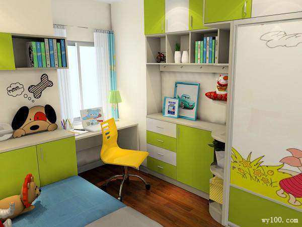 儿童房装修效果图  16�O美观且实用卡通_维意定制家具商城