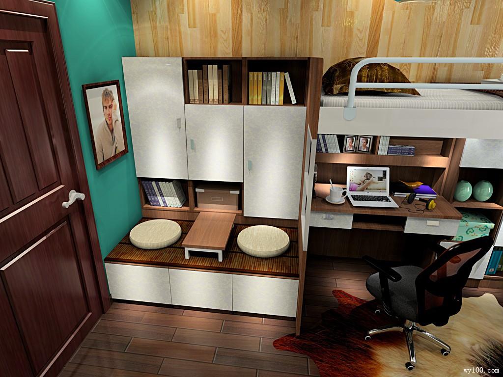 一房三用实用立体书房