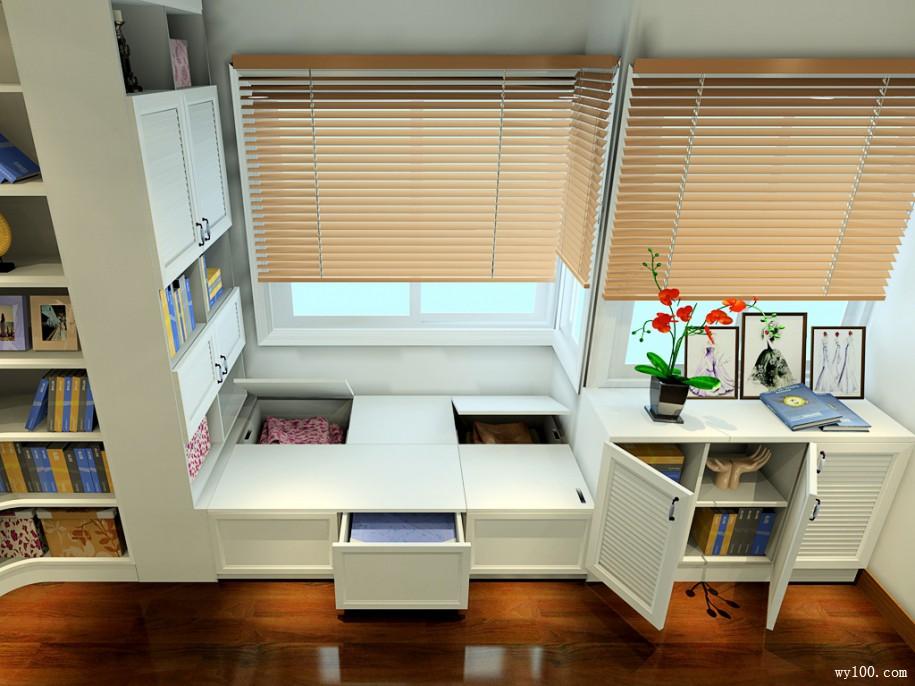 15平欧式书房家具装修效果图套餐