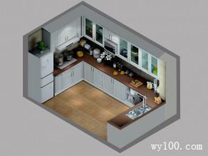 高端厨房效果图 10�O精心炮制美食_维意定制家具商城