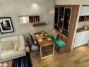 实木客餐厅效果图 34�O胡桃木色浑然搭配_维意定制家具商城