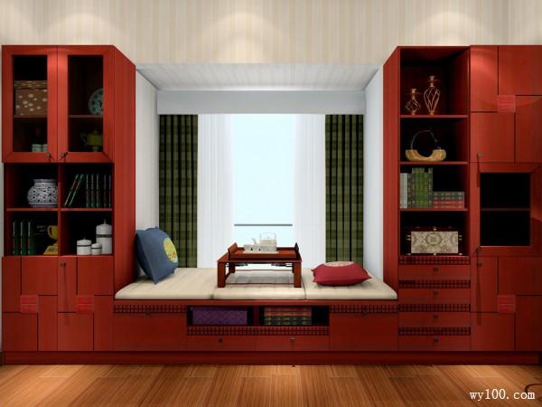 中式古典卧室效果图 14�O细水流年与君同_维意定制家具商城