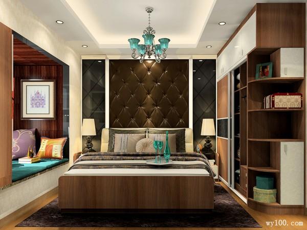 带飘窗卧室设计 11平端庄大气_维意定制家具商城