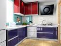 紫晶L型厨房效果图_维意定制家具商城