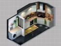 厨房装修效果图 13�O吊柜与地柜相得益彰_维意定制家具商城