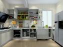 U型厨房效果图 7平梁柜垂直呼应_维意定制家具商城