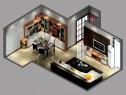 20平现代欧式风格客餐厅_维意定制家具商城