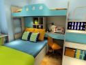 上下床儿童房效果图_维意定制家具商城