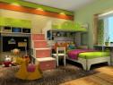 实用收纳儿童房效果图_维意定制家具商城