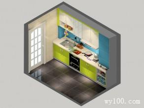 韩式迷你厨房效果图_维意定制家具商城