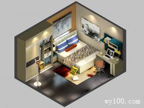 落地窗个性卧室效果图_维意定制家具商城