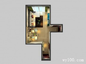 欧式客餐厅效果图 配色简约时尚_维意定制家具商城