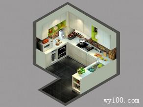 简约厨房效果图 8�O功能多样化_维意定制家具商城