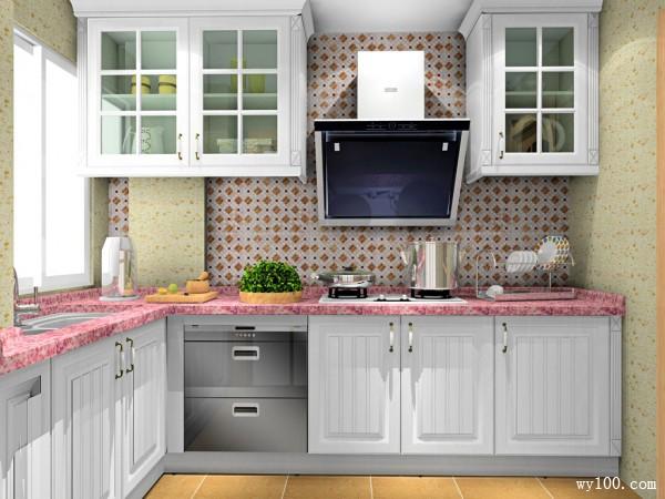 L型橱柜厨房装修设计 5平甜蜜田园_维意定制家具商城