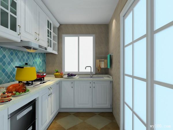 欧式小厨房装修效果图 6�O收纳功能强大_维意定制家具商城