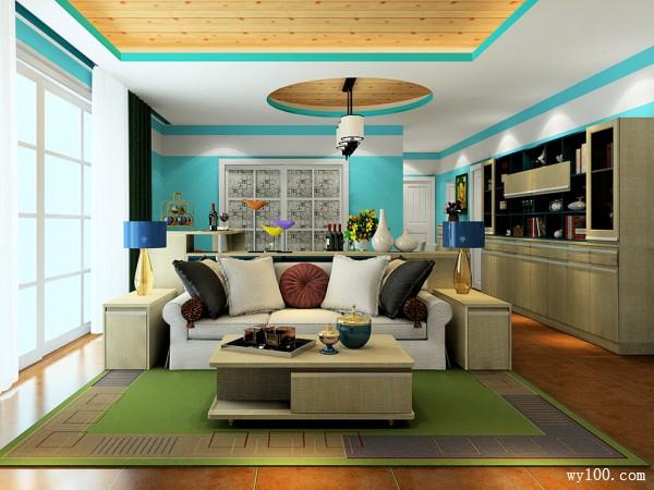 客餐厅装修效果图 59�O整体个性独特_维意定制家具商城