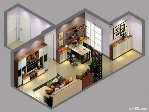 简约不简单设计风客餐厅_维意定制家具商城
