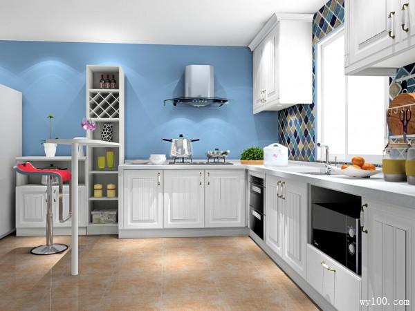 厨房装修效果图 19�O开放式巧装修_维意定制家具商城
