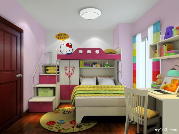 可爱型儿童房效果图_维意定制家具商城