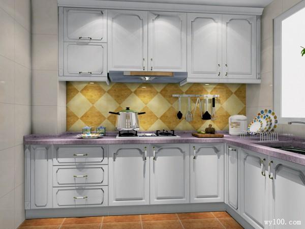 厨房装修效果图 42�O打造慢调的生活气息_维意定制家具商城