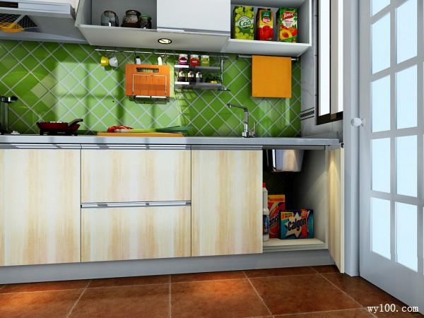 现代L型厨房 极易清理_维意定制家具商城