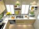 欧式简约厨房效果图 6平打造出高档的橱柜_维意定制家具商城